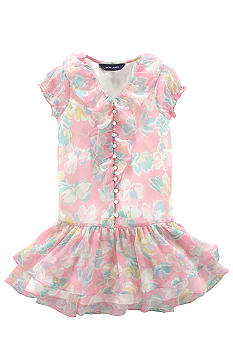 Ralph Lauren Childrenswear Sweet Chiffon Dress Toddler Girls