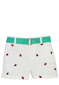 Ralph Lauren Childrenswear Embroidered Chino Short Toddler Girls