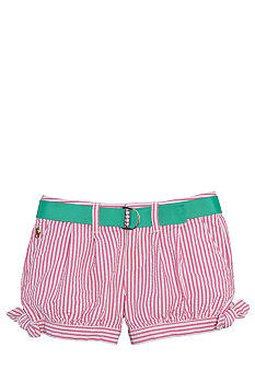Ralph Lauren Childrenswear Seersucker Pleated Short Toddler Girls
