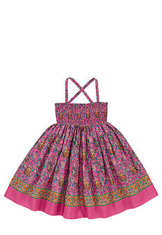 Ralph Lauren Childrenswear Paisley Print Bohemian Dress Toddler Girls
