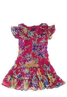 Ralph Lauren Childrenswear Floral Chiffon Dress Toddler Girl