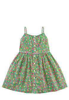 Ralph Lauren Childrenswear Floral Print Pleated Dress Toddler Girls