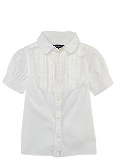Ralph Lauren Childrenswear Ruffled Broadcloth Shirt Toddler Girl