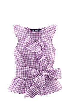 Ralph Lauren Childrenswear Gingham Ruffle Top Toddler Girls