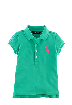 Ralph Lauren Childrenswear Sporty Patch Polo Toddler Girls