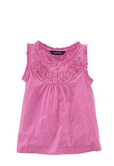 Ralph Lauren Childrenswear Embroidered Bib Top Toddler Girls