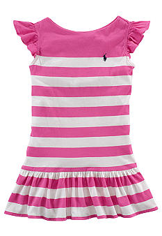 Ralph Lauren Childrenswear Striped Jersey Dress Toddler Girl