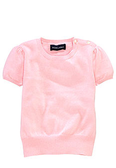 Ralph Lauren Childrenswear Pearl Buttoned Knit Top Toddler Girl