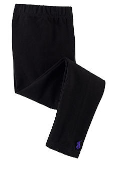 Ralph Lauren Childrenswear Black Solid Legging Toddler Girl