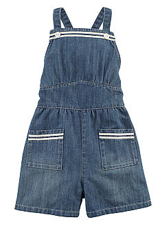 Ralph Lauren Childrenswear Denim Sailor Romper Toddler Girls