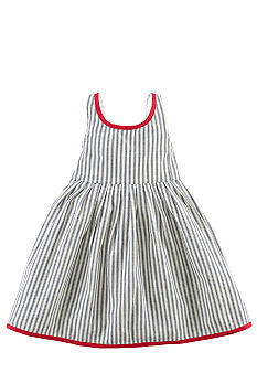 Ralph Lauren Childrenswear Indigo Stripe Toddler Girls
