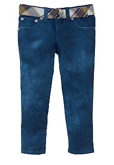 Ralph Lauren Childrenswear Watercolor Cropped Skinny Jeans Toddler Girls