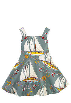 Ralph Lauren Childrenswear Sailboat Print Sundress Toddler Girls