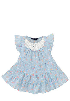 Ralph Lauren Childrenswear Tiered Floral Print Top Toddler Girls