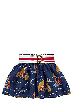 Ralph Lauren Childrenswear Seaside Print Skirt Toddler Girls