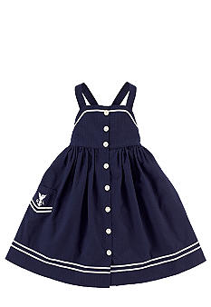 Ralph Lauren Childrenswear Nautical Seersucker Sundress Toddler Girls