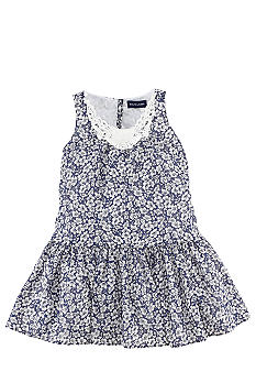 Ralph Lauren Childrenswear Crochet Trim Floral Dress Toddler Girls