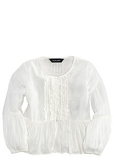 Ralph Lauren Childrenswear Crinkle Peplum Top Toddler Girls