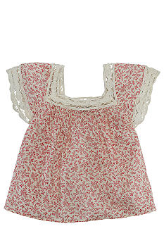 Ralph Lauren Childrenswear Crochet Floral Top Toddler Girls