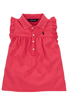Ralph Lauren Childrenswear Flutter Sleeve Polo Toddler Girls