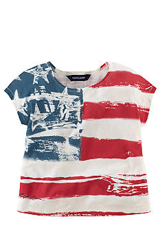 Ralph Lauren Childrenswear Distressed Flag Tee Toddler Girls