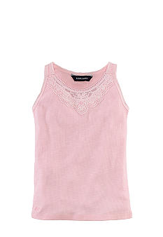 Ralph Lauren Childrenswear Rib-Knit Lace Tank Toddler Girls