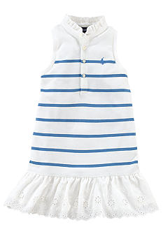 Ralph Lauren Childrenswear Preppy Stripe Polo Dress Toddler Girls