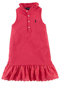 Ralph Lauren Childrenswear Eyelet Ruffle Dress Toddler Girls