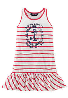 Ralph Lauren Childrenswear Striped Tank Dress Toddler Girls