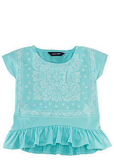 Ralph Lauren Childrenswear Slouchy Bandanna Tee Toddler Girls