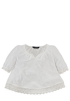 Ralph Lauren Childrenswear Crochet Trim Top Toddler Girls