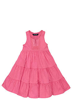 Ralph Lauren Childrenswear Drop-Waist Lace Trim Dress Toddler Girls