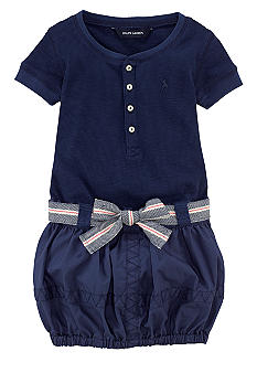 Ralph Lauren Childrenswear Henley Dress Toddler Girls