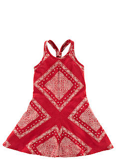 Ralph Lauren Childrenswear Bandanna Print Maxi Dress Toddler Girls