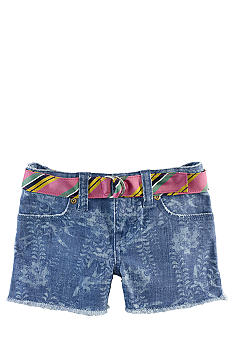 Ralph Lauren Childrenswear Cutoff Denim Short Toddler Girls