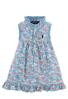Ralph Lauren Childrenswear Floral Print Ruffle Shirt Toddler Girls