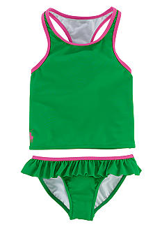 Ralph Lauren Childrenswear Racerback Ruffle Tankini Toddler Girls