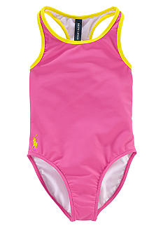 Ralph Lauren Childrenswear Racerback 1-piece Swimsuit Toddler Girls