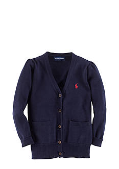 Ralph Lauren Childrenswear V-Neck Pony Cardigan Toddler Girls