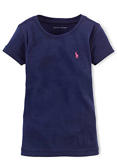 Ralph Lauren Childrenswear Pima Crew Neck Tee Shirt Toddler Girls