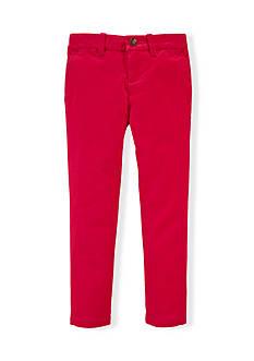 Ralph Lauren Childrenswear Stretch Cotton Chino Pants Toddler Girls