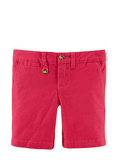 Ralph Lauren Childrenswear Cotton Chino Bermuda Shorts Toddler Girls