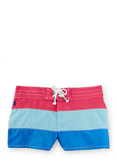 Ralph Lauren Childrenswear Color-Block Board Short Toddler Girls