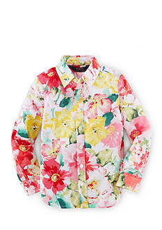 Ralph Lauren Childrenswear Long Sleeve Floral Top Toddler Girls