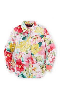 Ralph Lauren Childrenswear Long Sleeve Floral Top Toddler Girls
