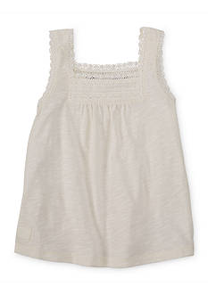 Ralph Lauren Childrenswear Cotton Lace Tank Top Toddler Girls
