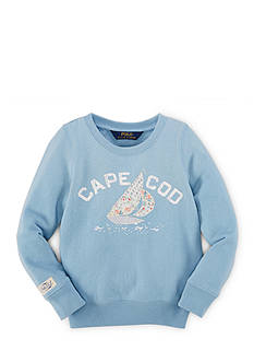 Ralph Lauren Childrenswear Fleece Sailboat Sweater Toddler Girls