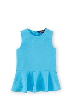 Ralph Lauren Childrenswear Peplum Lindsay Top Toddler Girls