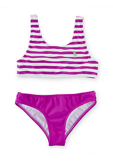 Ralph Lauren Childrenswear 2-Piece Stripe Swimsuit Toddler Girls