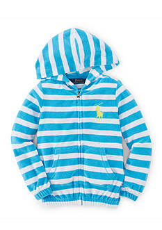 Ralph Lauren Childrenswear Stripe Hoodie Toddler Girls
